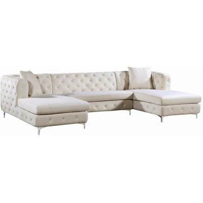 Lucius Sectional Upholstery: Cream