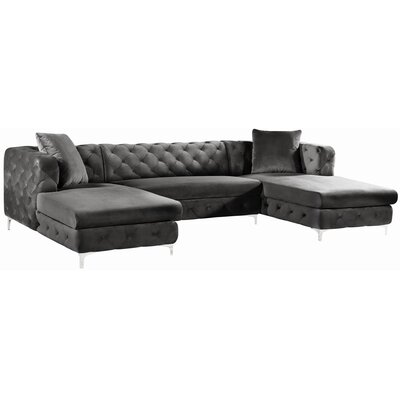 Lucius Sectional Upholstery: Gray