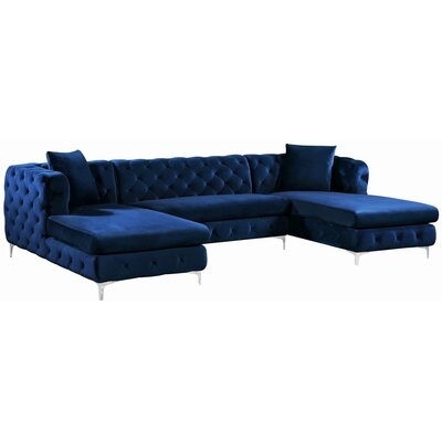 Lucius Sectional Upholstery: Navy