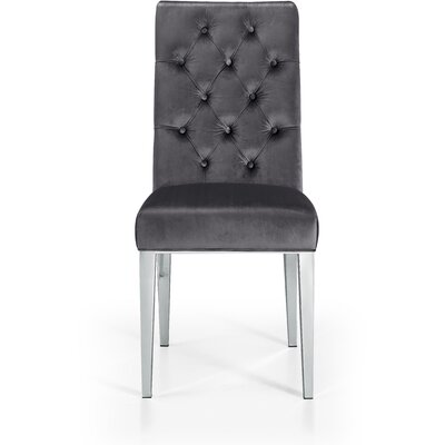Marshall Velvet Parsons Chair Upholstery: Gray