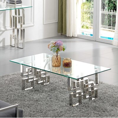 Jani Coffee Table Table Base Finish: Chrome