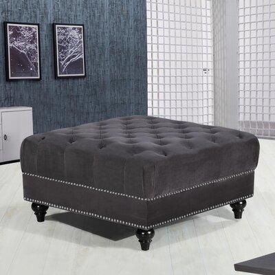 Paulita Cocktail Ottoman Upholstery: Gray