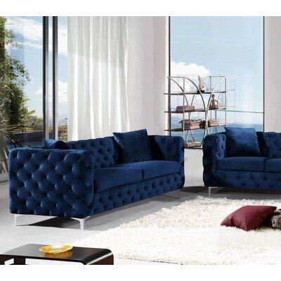 Patrina Sofa Upholstery: Navy