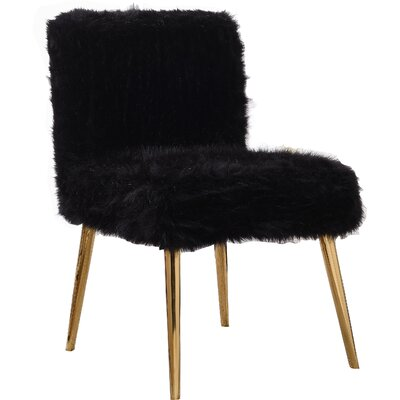 Palomar Side Chair Upholstery: Black