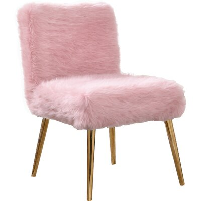 Palomar Side Chair Upholstery: Pink