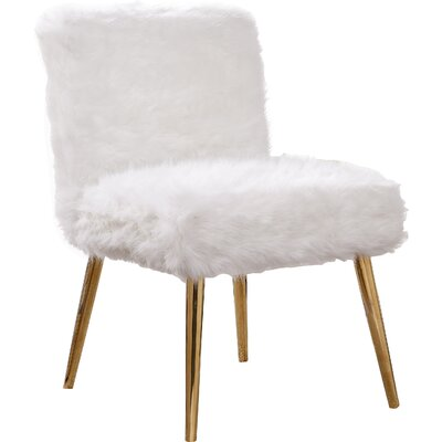 Palomar Side Chair Upholstery: White