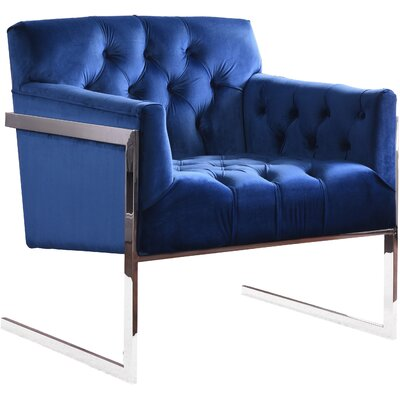 Abena Armchair Upholstery: Navy