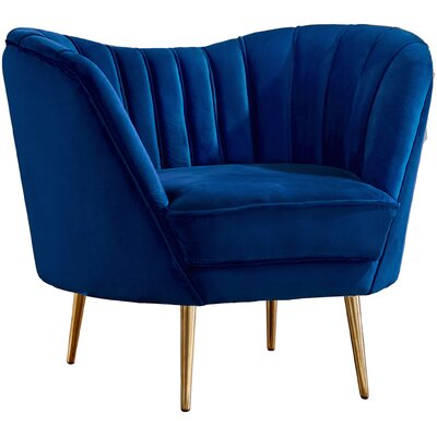 Koger Club Chair Upholstery: Navy