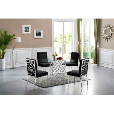 Hop Chrome Dining Table Base Color : Silver