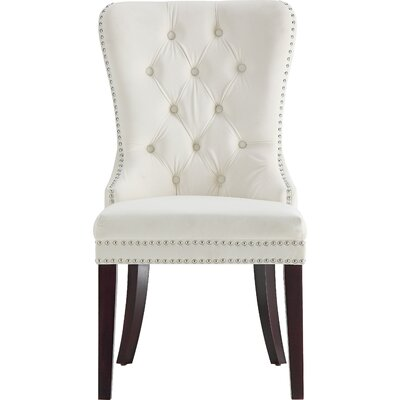 Stonefort Upholstered Dining Chair Upholstery: Cream