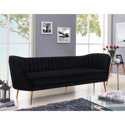 Koger Chesterfield Sofa Upholstery: Black