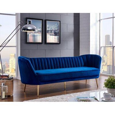 Koger Chesterfield Sofa Upholstery: Navy