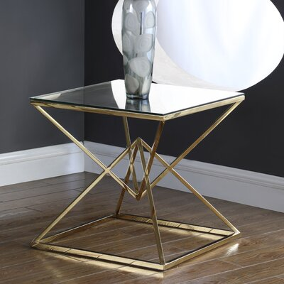 Jhoana End Table Table Base Color: Gold