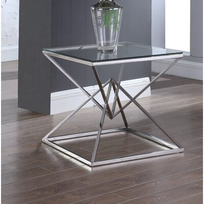 Jhoana End Table Table Base Color: Silver