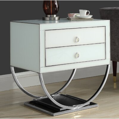 Le Side Table Color (Base/Top): Silver/White