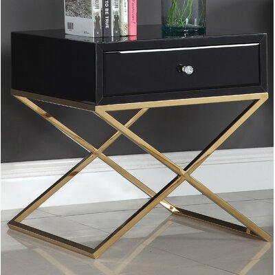 Katondra Side Table Color (Base/Top): Gold/Black