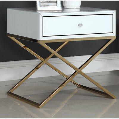 Katondra Side Table Color (Base/Top): Gold/White