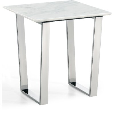 Germana End Table Table Base Finish: Chrome