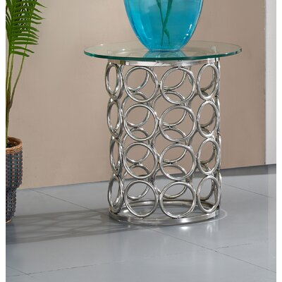 Hop Chrome End Table