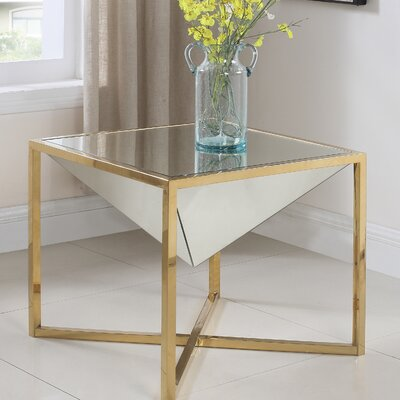 Trong End Table Table Base Color: Gold