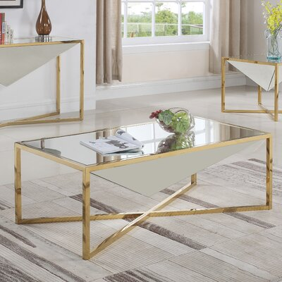 Trong Coffe Table Table Base Color: Gold