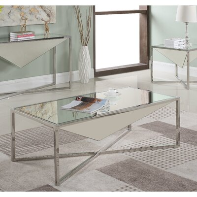 Trong Coffe Table Table Base Color: Silver