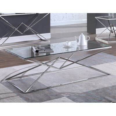 Jhoana Coffee Table Table Base Color: Silver