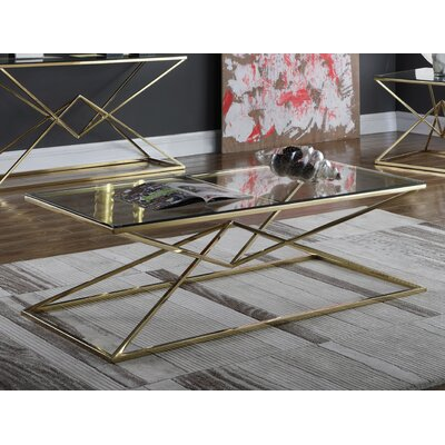 Jhoana Coffee Table Table Base Color: Gold