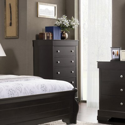 Manhattan 5 Drawer High Chest