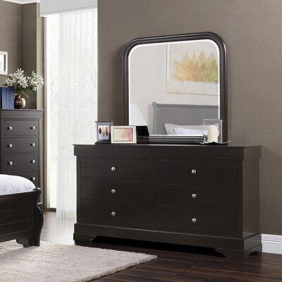 Manhattan 6 Drawer Dresser with Mirror