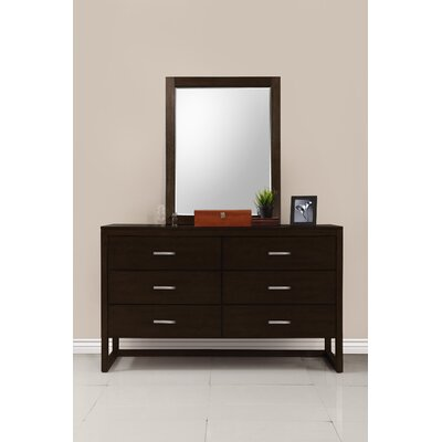 Brisbane 6 Drawer Dresser Color: Burnt Cinnamon