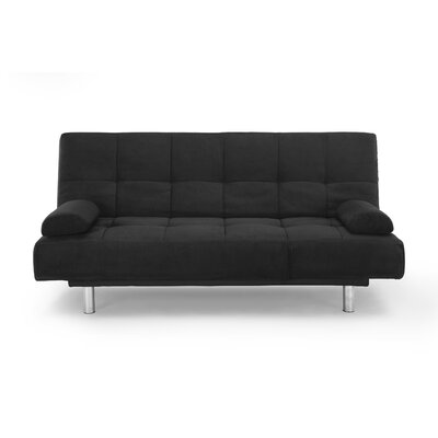 Modica Convertible Sofa Upholstery: Black