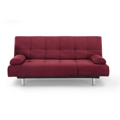 Modica Convertible Sofa Upholstery: Red