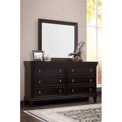 Morrisonville 6 Drawer Double Dresser with Mirror