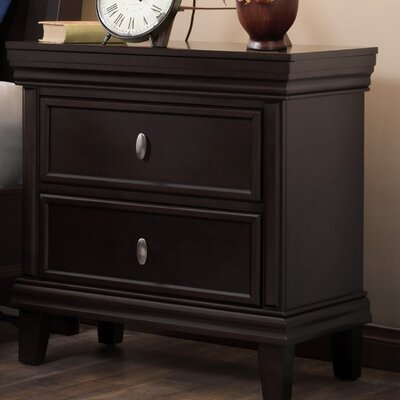 Morrisonville 2 Drawer Nightstand