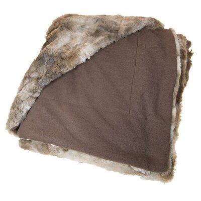 Coyote Fleece Throw Blanket