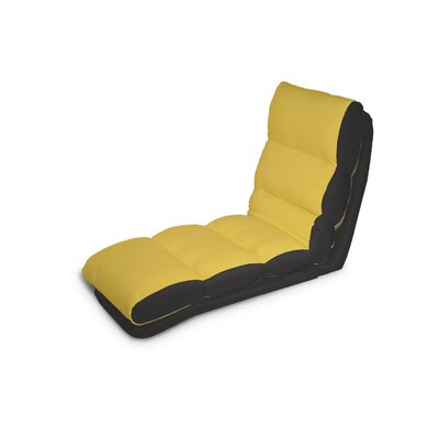 Turbo Convertible Chaise Lounger Upholstery: Yellow