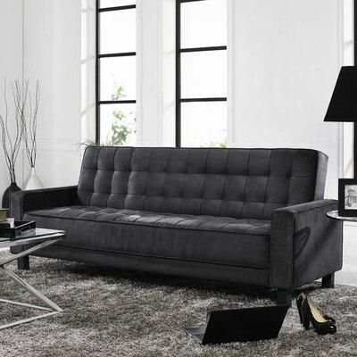 LifeStyle Solutions SC-MRS-S3M25-BK Montrose Convertible Sofa