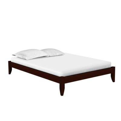 Soho Platform Bed Size: Queen, Color: Cappuccino
