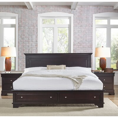 Mertie King Storage Panel Bed