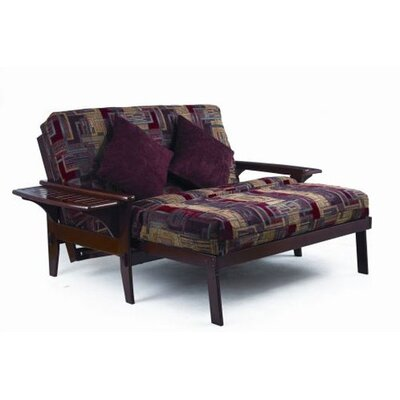 Santa Cruz Futon Chair Frame Finish: Dark Cherry, Size: Full