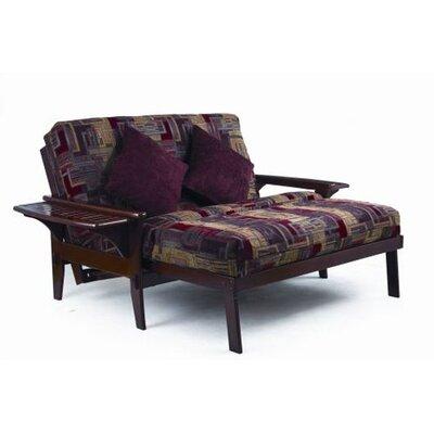 Santa Cruz Futon Chair Frame Finish: Dark Cherry, Size: Queen