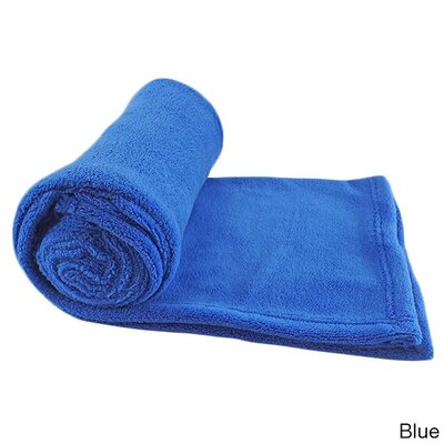 Zip Up Pillow Coral Fleece Blanket Color: Blue