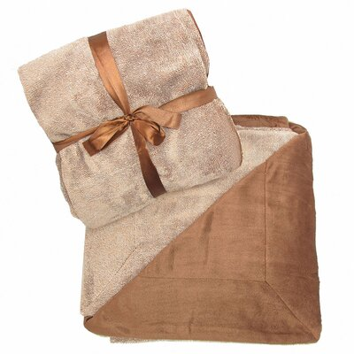 Alderwood Reversible Ultra Plush Fleece Throw Color: Brown