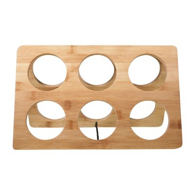 Bamboo 6 Bottle Tabletop Wine Bottle Rack