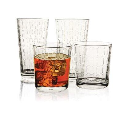 Circle Glass Vortex 16 Piece Glassware Set