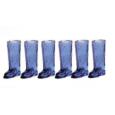 Kickback 1.5 oz. Boot Shot Glass Color: Blue 51471