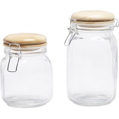 Hermetic 2 Piece Storage Jar Set