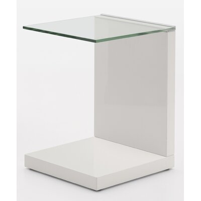 Tavolino End Table Color: Glossy Beige