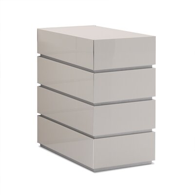 Potenza 4 Drawer Dresser Color: Glossy Beige